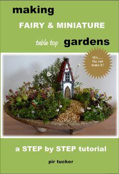 Fairy and Miniature Table Top Gardens PDF house pot path vegetables flowers hypertufa sculpture tutorial on Etsy, $6.82