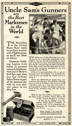 ... personal cleanliness, a long-standing theme in Gillette advertising