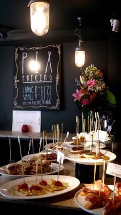 Pix. Great tapas in Soho & Covent Garden. Quick and easy, great for meetings, dates or lunch with friends.