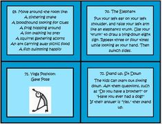 These task cards by The Teacher Next Door are great to use when your kids need a brain break. There are 100 cards with lots of easy and fun ideas to help your kids get re-focused after periods of sitting. There are lots of games, exercises and creative movements included.$ task cards, movement games for kids, brain break, fun fitness games for kids, teacher