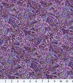 Keepsake Calico Fabric-Violet Paisley