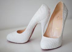 louboutin white #heels