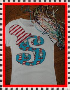 Dr. Suess Shirt for Boy or Girl ... Children Birthday Clothing. $16.99, via Etsy.