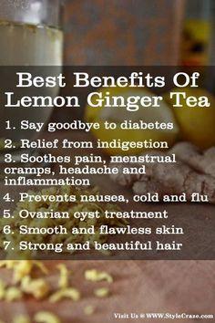 7 Best Benefits Of Lemon Ginger Tea: Follow us @ pinterest.com/...  for more updates.