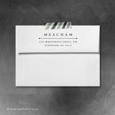 Custom return address stamp // rubber stamp // stamp //  self inking // Classic. $35.00, via Etsy.