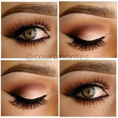 Neutral Eye Makeup Makes those Hazel Green Eyes Pop ... | Hair & Bea…