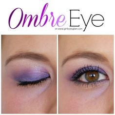 Ombre Eye Makeup Tutorial on www.girllovesglam.com #tutorial #howto #eyeshadow