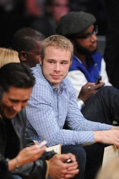 Los Angeles Kings Captain Dustin Brown at STAPLES Center for Los Angeles Lakers game May 1, 2012 (via @Lakers twitter)