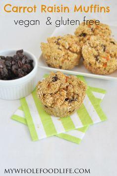Carrot Raisin Muffins - My Whole Food Life