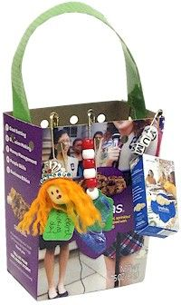 Girl Scout SWAP Box. Make this fun box from your left over Girl Scout Cookies. To see how go to MakingFriends.com.