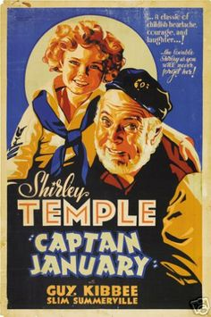 CAPTAIN JANUARY MOVIE POSTER Shirley Temple VINTAGE 1 - PRINT IMAGE PHOTO -G10
