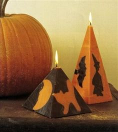 DIY Halloween candles - We need to try this!