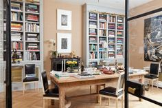 love this! Library & Dining Room as one!