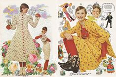 From the August 1971 issue of Seventeen ~ 'Betsey Johnson shows you how to get it all together'