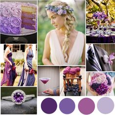 Purple Ombre Wedding #purple #violet #orchid #lavender #wedding