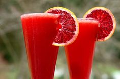 Blood orange mimosas..perfect party drink