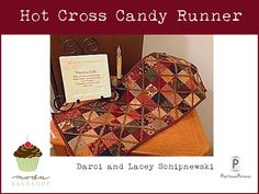 Free pattern.... Moda Bake Shop: Hot Cross Candy Runner @ModaFabrics