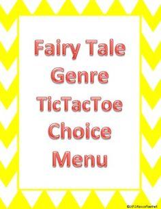 Fairy Tale TicTacToe Choice Board FREEBIE