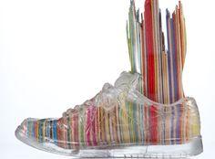 Transparent Shoe Sculptures by Haroshi