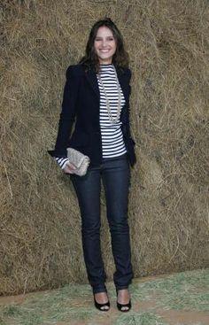 Virginie Ledoyen a un look marin très chic par Chanel...