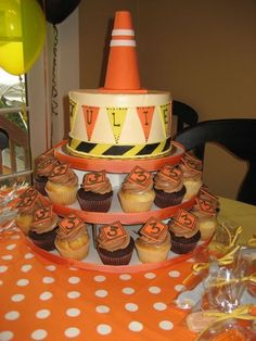 construction cake - cupcakes instead