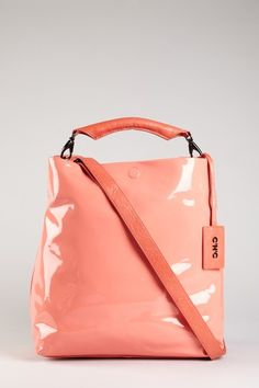 C'N'C Costume National Patent Hobo Bag in coral. I love this!