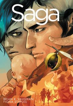 Availability: http://130.157.138.11/record=b3728933~S13 Saga Volume 1 / writer, Brian K. Vaughan ; artist, Fiona Staples. When two soldiers from opposite sides of a never-ending galactic war fall in love, they risk everything to bring a fragile new life into a dangerous old universe