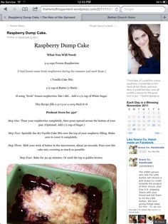 Our Raspberry Dump Cake Recipe {Featured on Tipnut}