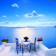 dream, blue, vacat, greece, beauti