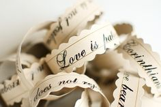 paper garlands, napkin rings, scripture quotes, christmas birthday, papers