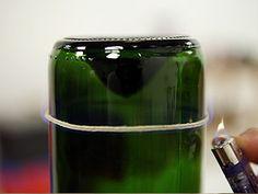 Adornos navidad on pinterest tiki torches manualidades - Como cortar botellas de vidrio ...