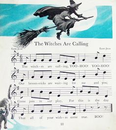 Vintage Halloween sheet music