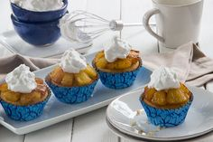 Pineapple Upside-Down Cupcakes with Whipped Coconut Cream