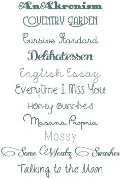 new favorite fonts
