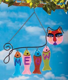 wind chime, meow glass, glass wind, fuse glass