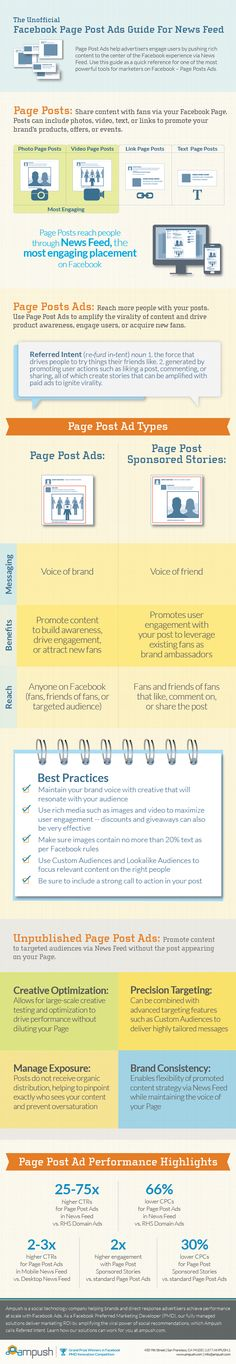 Great #infographic guide to #Facebook Page Post Ads. #socialmedia