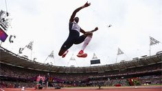 Phillips Idowu of Great Britain competes in the men's Triple Jump Qualification on Day 11 of the London 2012 Olympic Games at Olympic Stadium.  /Photo/sport/General/01/37/40/601phillips-idowu-great-britain-competes-the-men-triple-jump-13740601374060  Related tags