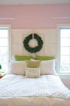 I like the headboard but I'm not sure about the wreath.
