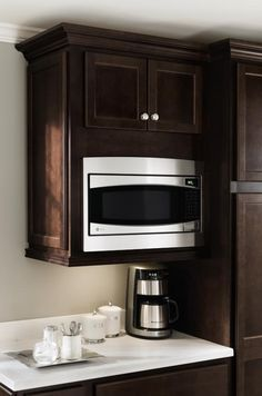 Create a custom look and free up counter space with Homecrest's #Microwave #Cabinet.