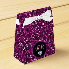 Purple Sequins Favor Box by elenaind (Elena Indolfi) #Zazzle