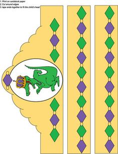 Mardi Gras Crown Gator - Party Hats from Family Shopping Bag