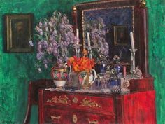 Stanislav Yulianovich Zhukovsky (Станислав Юлианович Жуковский) (Polish Russian artist, 1875–1944) Nasturtiums 1915