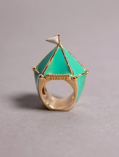 tents, circus ring, style, accessori, ring finger, big top, cocktail ring, jewelri, night circus