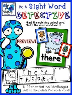 Sight Word Detective (FREEBIE!) Whimsy Workshop Teaching
