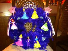 The Disney Princess wreath I made for my niece who turns 3 in Feb for her bday.
