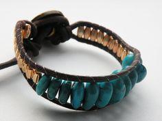 DIY: wrap bracelet - turquoise