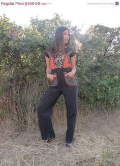 Vintage Jumpsuit with Pockets & Hood // 70s Prairie Vibe with 80s Fit // AMAZING!!!