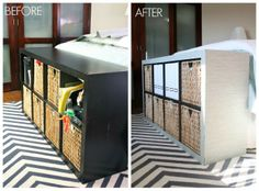 IKEA Hack: Transform An Expedit Using A Panel Curtain