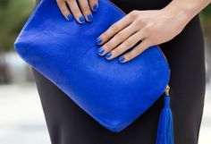 Clare Vivier Clutch Electric Blue - & Other Stories