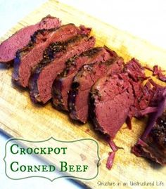 Corned Beef in the Crockpot - Structure in an Unstructured Life